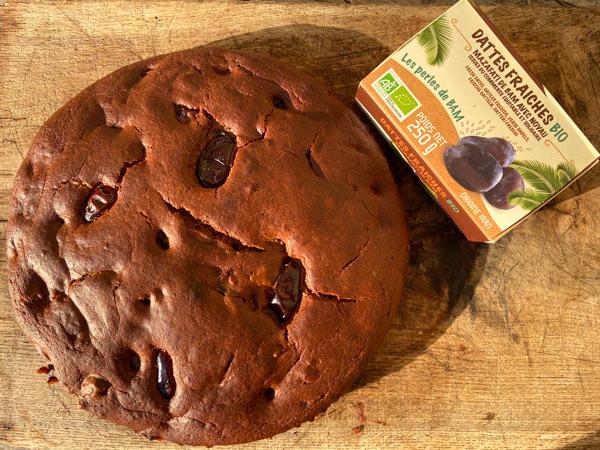 Gâteau aux dattes et au chocolat