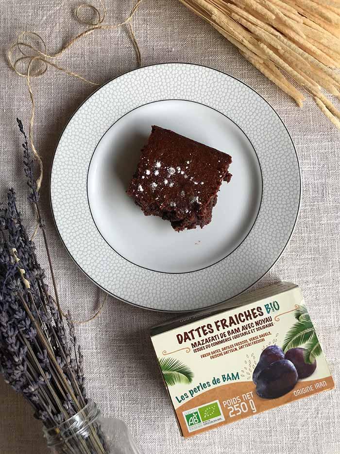 brownie dattes sans sucre