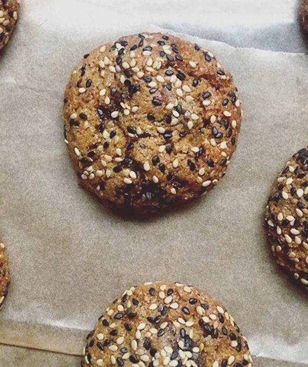 cookies vegan figues séchés et sésame